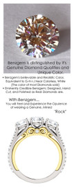 6.00mm Anniversary Ring by GuyDesign®, .80 Carats x 3 Hand Cut H&A Round Shape G-H Color Excellent Diamond Quality Benzgem Diamond Simulant, Custom Two-Tone White & Yellow Gold Jewelry 6933