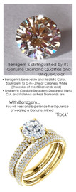 1.57 Micro All Pavé Mined Diamond Engagement Ring by GuyDesign®, 01.57 Ct. Hand Cut Round Shape G-H Color Diamond Quality Benzgem Lab-Created Replica, Custom Jewelry 6954