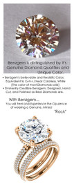 6.43 Micro All Pavé Mined Diamond Engagement Ring by GuyDesign®, 06.43 Ct. Hand Cut Round Shape G-H Color Diamond Quality Benzgem Lab-Created Replica, Custom Jewelry 6956