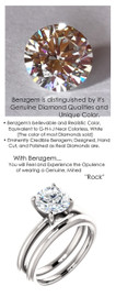 1.51 Benzgem by GuyDesign® 01.51 ct. Hearts & Arrows Round Shape, Believable G-H-I-J Natural Color Fantasy Diamond, 14K White Gold Ladies Classic Tiffany Ring 6973