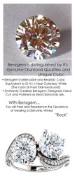 4.00 Dual Solitaire Diamond G+, VS Right Hand Ring by GuyDesign®, 2 Carat Round Brilliants, G-H Color Precision Benzgem Diamond Replica, Custom Jewelry 6991