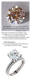 3.00 All G+, VS Diamond, Platinum Engagement Ring by GuyDesign®, 3 Carat H&A Round Benzgem Alternative Solitaire, Custom Jewellery 6993
