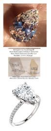 3.00 All G+, VS Diamond, Platinum Engagement Ring by GuyDesign®, 3 Carat Pear Shape Benzgem Alternative Solitaire, Custom Jewellery 6994