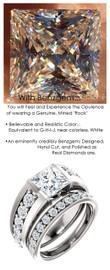Bespoke Ladies G+ Color, VS Clarity Diamond Semi-Mount Wedding Ring - 4 Carat, 9 x 9 Princess G-H-I-J Color Benzgem by GuyDesign® Best Diamond Simulant, 6707
