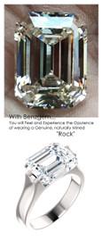 5.50 Ct. Emerald Cut Ladies Modern Ring by GuyDesign® 14 Karat White Gold 7013