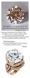 12.56 Carat Believable Simulated Diamond Round Cut Benzgem matches Convincingly the Natural Diamond Semi-Mount; GuyDesign Halo Engagement or Right-Hand Ring - 14k Rose Gold, 7076,