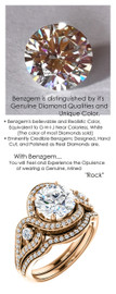 1.91 Carat Believable and Realistic Simulated Diamond Round Cut Benzgem matches Convincingly the Natural Diamond Semi-Mount; GuyDesign Halo Engagement or Right-Hand Ring - 14k Rose Gold, 7077,