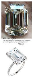 14.22 Ct. All G+, VS Diamond, Platinum Engagement Ring by GuyDesign®, 14.22 Carat Emerald Shape Benzgem Best Alternative Solitaire, Custom Jewellery 6702