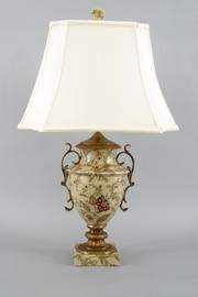 Blossoms Pattern - Luxury Hand Painted Porcelain and Gilt Bronze Ormolu - 32 Inch Lamp