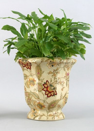 Blossoms Pattern - Luxury Hand Painted Porcelain - 10 Inch Planter