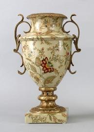 Porcelain Vase - Blossoms Pattern - Luxury Hand Painted Porcelain with Gilt Bronze Ormolu Mounts