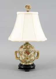 Blossoms Pattern - Luxury Hand Painted Porcelain - 15 Inch Lamp