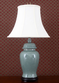 Celadon - Luxury Hand Painted Porcelain - 30 Inch Lamp