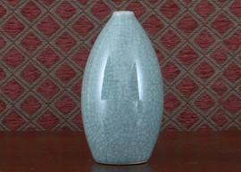 Set of Two Porcelain Vases - Celadon Crackle