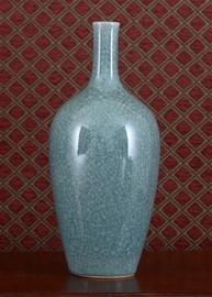 Celadon - Luxury Hand Painted Porcelain - 14 Inch Vase 642 ND