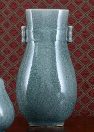 Celadon - Luxury Hand Painted Porcelain - 9 Inch Vase