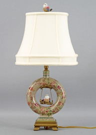 Grandiosa Pattern - Luxury Hand Painted Porcelain - 25 Inch Lamp
