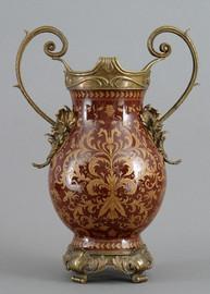 Janja Pattern - Luxury Hand Painted Porcelain and Gilt Bronze Ormolu - 19 Inch Vase