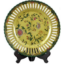 Wildflower Pattern - Luxury Hand Painted Porcelain - 10 Inch Decorative Plate
