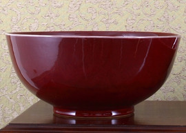 Oxblood Red - Luxury Hand Painted Porcelain - 12 Inch Decorative Bowl