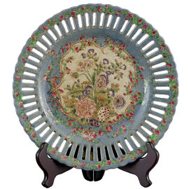 Glorious Morning Pattern - Luxury Hand Painted Porcelain - 10 Inch Decorative Plate