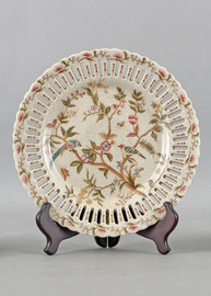 Serene Garden Pattern - Luxury Hand Painted Porcelain - 10 Inch Decorative Plate