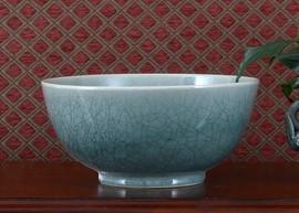 Celadon - Luxury Hand Painted Porcelain - 12 Inch Decorative Bowl