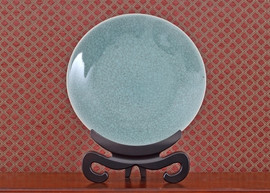 Celadon - Luxury Hand Painted Porcelain - 18 Inch Decorative Plate,Platter