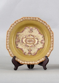 Subtle Violets Pattern - Luxury Hand Painted Porcelain - 9.5 Inch Plate