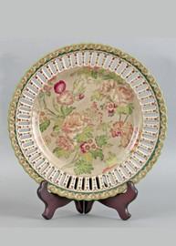 Grandiosa Pattern - Luxury Hand Painted Porcelain - 10 Inch Plate