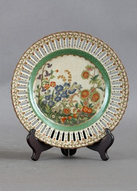 Spring Gardens Pattern - Luxury Hand Painted Porcelain - 10 Inch Plate