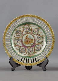 Heavenly Putti Pattern - Luxury Hand Painted Porcelain - 10 Inch Plate 316 ND