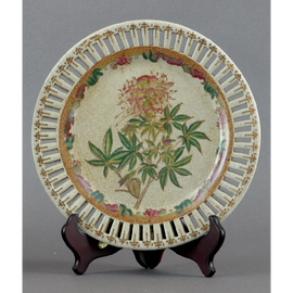 Spider Flower Pattern - Luxury Hand Painted Porcelain - 10 Inch Plate