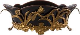 """Black Porcelain Tabletop Centerpiece Planter 16"""""""