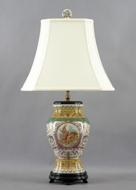 Heavenly Putti Pattern - Luxury Hand Painted Porcelain - 29 Inch Lamp