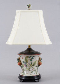 Wild Berries Pattern - Luxury Hand Painted Porcelain - 26 Inch Lamp