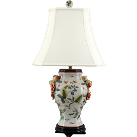 Wild Berries Pattern - Luxury Hand Painted Porcelain - 29 Inch Lamp