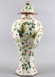 Wild Berries Pattern - Luxury Hand Painted Porcelain - 30.5 Inch Covered Urn, Jar