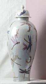 Finely Finished Porcelain - 32 Inch Oversized Jar - Glazed Iridescent Finish