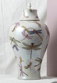 Finely Finished Porcelain - 26 Inch Oversized Jar - Glazed Iridescent Finish
