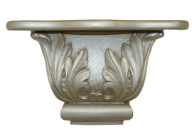 Classic Elements, 9t x 4d x 14w Grand Acanthus Wall Bracket Sconce, Shelf, Custom Finish 7132.201