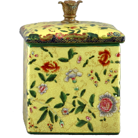 Wildflower Pattern - Luxury Hand Painted Porcelain - 8.5 Inch Decorative Box