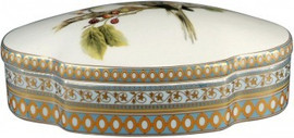 Luxe Life Soothing Nature Pattern - Luxury Hand Painted Porcelain - 9.5 Inch Decorative Box