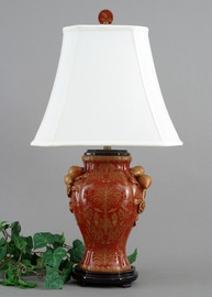 Olde Plantation Pattern - Luxury Hand Painted Porcelain - 29 Inch Lamp