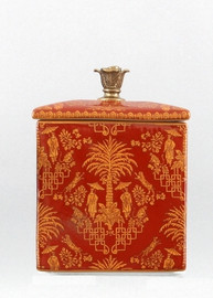 Olde Plantation Pattern - Luxury Hand Painted Porcelain and Gilt Bronze Ormolu - 8 Inch Covered Box