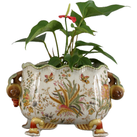 Burst of Spring Pattern - Luxury Hand Painted Porcelain - 10 Inch Planter
