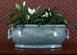 Celadon - Luxury Hand Painted Porcelain - 18.25 Inch Footbath, Planter