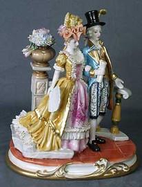 Meissen Style Table Top - Tabletop Porcelain Figure 1978 AAA