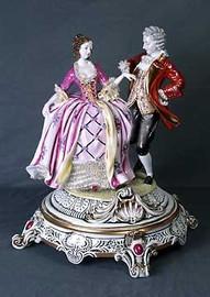 Meissen Style Table Top - Tabletop Porcelain Figure