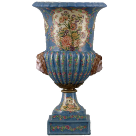 Glorious Morning Pattern - Luxury Hand Painted Porcelain - 16 Inch Vase
